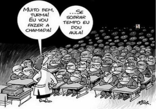 aulas com muitos alunos
